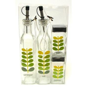 Vinegar and Oil Cooking 4pc set Leaves