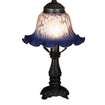12.5 Inch H Bell Pink & Blue Mini Lamp