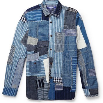 Junya Watanabe - Patchwork Denim Shirt | MR PORTER