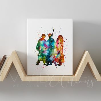 Harry Potter, Ronald Weasley & Hermione Granger 2 Gallery Wrapped Canvas
