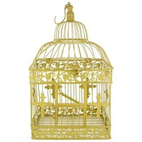 Yellow Rectangle Metal Bird Cage | Shop Hobby Lobby