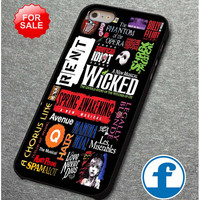 Broadway Musical Collage (2)  for iphone, ipod, samsung galaxy, HTC and Nexus PHONE CASE