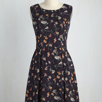 I Rest My Grace Dress in Navy Blooms | Mod Retro Vintage Dresses | ModCloth.com