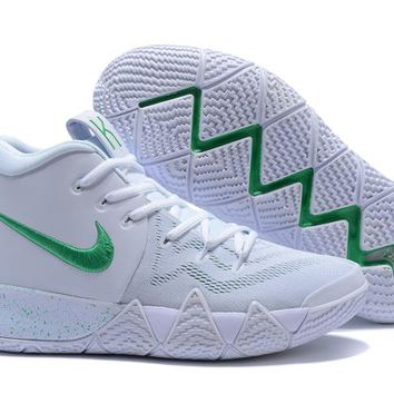 Nike Kyrie Irving 4 White/Green Sport Shoes US7-12