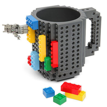 DIY Creative Brick Mug Building Blocks Coffee Cup