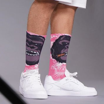 Monkey Face  Crew Socks