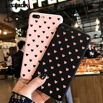 Heart Print Cellphone Case For iPhone