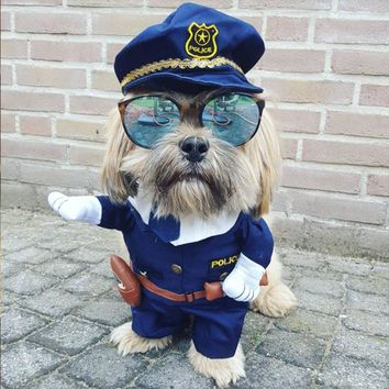 Funny Dog Clothes Cool Costume Suit Coat Outfit Nurse Policeman Suit