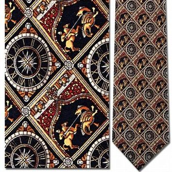 St. George Slaying the Dragon Medieval Men Silk Neck Tie