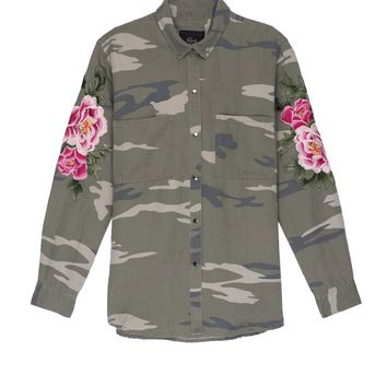 Marcel - Sage Camo with Floral Patches