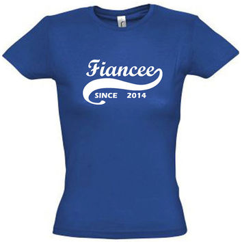Fiancee since 2014 (Any Year),gift ideas,humor shirts,humor tees,gift for her,gift for him,gift for sister,gift for brother,son gift