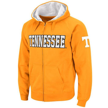 Tennessee Volunteers Tennessee Orange Twill Tailgate Full-Zip Hooded Sweatshirt