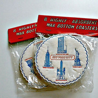Vintage New York City Coasters 2 Packages New Old Stock Souvenir Made In Japan Mid Century