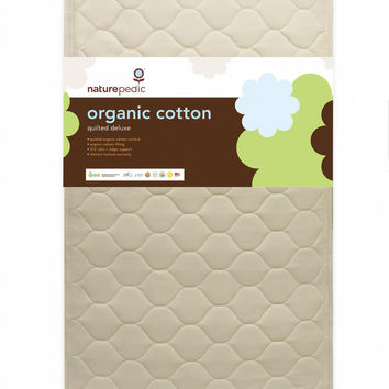 Naturepedic Crib Mattress - Cotton Quilted Deluxe