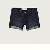 Low Rise 4 Inch Denim Shorts