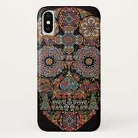 Colorful Flower Sugar Skull iPhone X Case