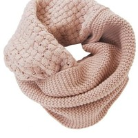 Humble Chic Women's Waffle Knit Circle Scarf - Tan - Cold Weather Infinity, Tan