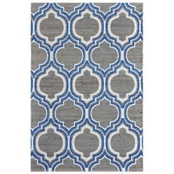 Chatham Trellis 3-Foot 6-Inch x 5-Foot 6-Inch Scatter Rug in Grey