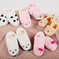 Assorted Stuffed Animal Enhanced Boat Shoes Slippers