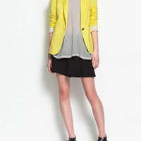 Long Sleeve Candy Colors Blazer