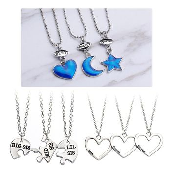 Best Friends Forever Sister Pendant Necklace