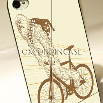 Chewbacca biking Star Wars - for iPhone 4/4S case iPhone 5 case Samsung Galaxy S2/S3/S4 case hard case