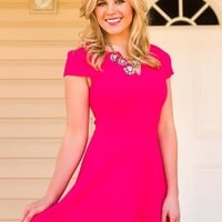 Everly: Pleased To Chic You Dress-Fuchsia - NEW ARRIVALS