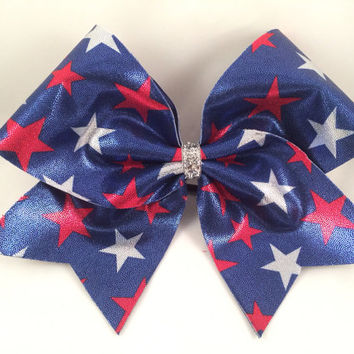 Cheer Bow - Stars and Stripes
