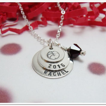 Personalized Stacked Graduate Necklace