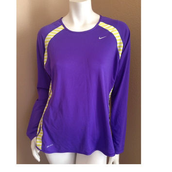 Nike Dri Fit Thermal Purple Top
