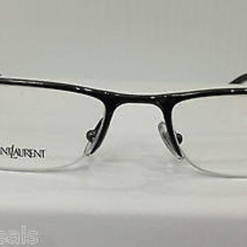 NEW AUTHENTIC YVES SAINT LAURENT YSL 2228 COL LVI GUNMETAL EYEGLASSES FRAMES
