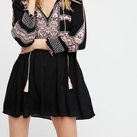 Wind Willow Mini Dress by Free People - Black