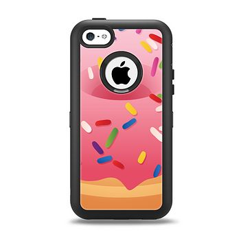 The Sprinkled 3d Donut Apple iPhone 5c Otterbox Defender Case Skin Set