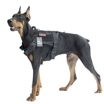 Dog Harness Vest for Walking Hiking Hunting and Tactical Military Water-Resistant