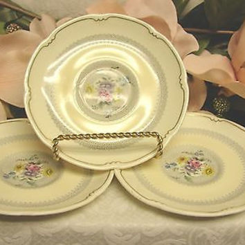 Royal Doulton, China Dinnerware Pattern # V1865 Burnham set 3 saucer