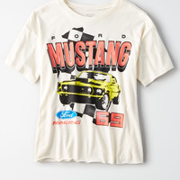 AE Mustang Oversize Graphic Tee, Cream