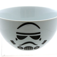 Star Wars R Inspired Storm Trooper Bowl  in Black and by LennyMud