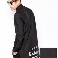 ASOS Smart Shirt With Long Sleeve In Longline With Brooklyn Print at asos.com
