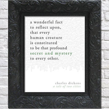 literary art print / book quote // a tale of two cities; charles dickens