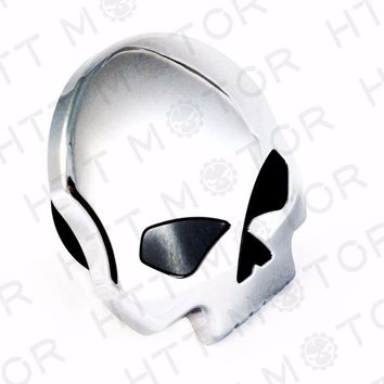 Aftermarket free shipping motorcycle parts Motorcycle Skull Fuel Gas Tank Cap Cover For Harley Dyna Softail Sportster 84-15 CD