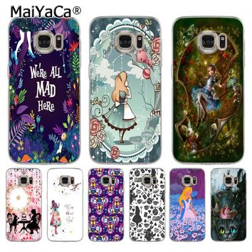 MaiYaCa Alice in Wonderland soft tpu phone case cover for samsung galaxy s7 s6 edge plus s5 s9 s8 plus case