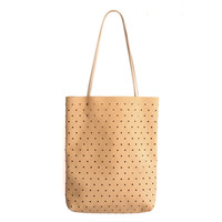Leather Dot Tote