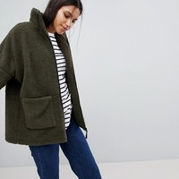Noisy May Teddy Zip Jacket at asos.com