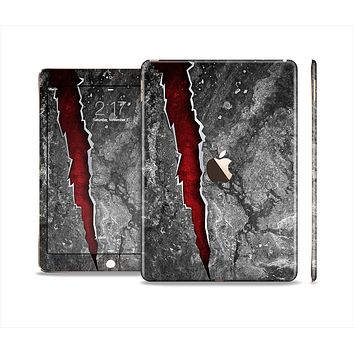 The Cracked Red Core Skin Set for the Apple iPad Air 2