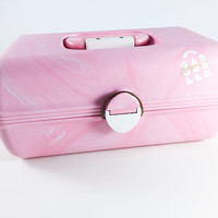 Vintage Pink Caboodle Makeup Storage Makeup Case  Cosmetics Case Craft Storage Case Retro Craft Box Craft Room Storage Sewing Storage