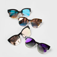 Skyler Mirrored Oversized Sunglasses