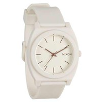 Nixon A119027 Women's Time Teller P Matte Manilla Polycarbonate Rubber Strap Watch