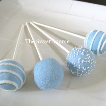 Cake Pops: Blue Baby Shower Cake Pops Made to Order with High Quality Ingredients