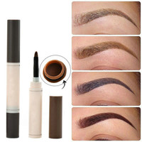 Fashion Eye Brow Dye Cream Pencil Long Lasting Waterproof Eyebrow Set Professional Makeup Tool