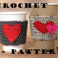 Coffee Cozy Crochet Pattern PDF,Cof.. on Luulla